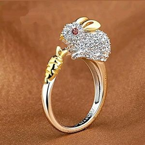 Adorable Bunny Ring Size 7 and Resizeable ring